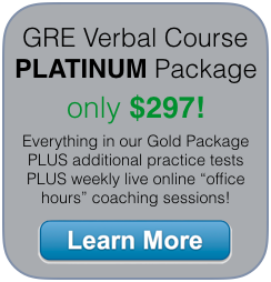 beat the gre verbal section