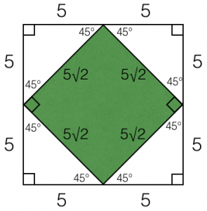 Solving a square inscribed inside a square on GRE geometry