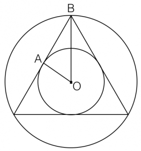 sample gre geometry question inscribed circle